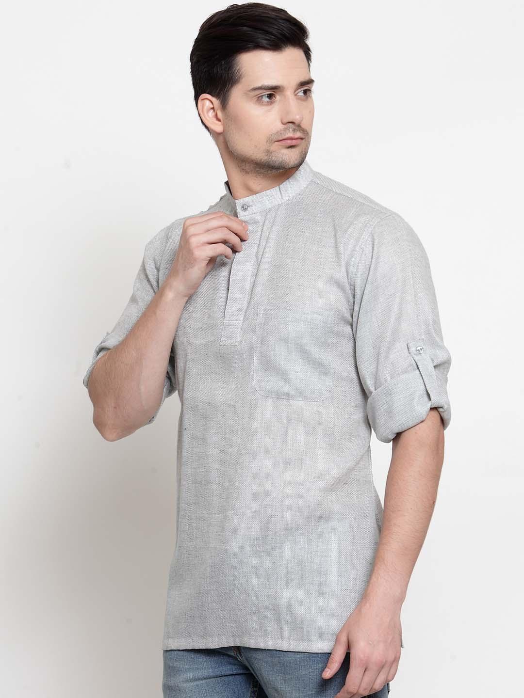 Men-039-s-Short-Kurta-Cotton-Shirt-Indian-Wear-Short-Round-Neck-Tunic-Kurta-XS-5XL thumbnail 15