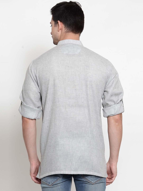 Men-039-s-Short-Kurta-Cotton-Shirt-Indian-Wear-Short-Round-Neck-Tunic-Kurta-XS-5XL thumbnail 16
