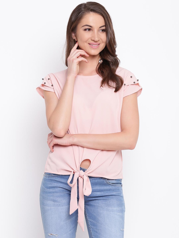 Mayra Women Pink Solid Top