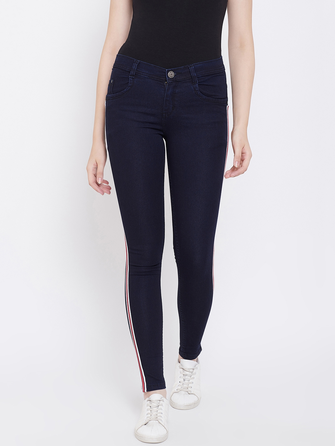 Nifty Women Navy Blue Slim Fit Mid Rise Clean Look Stretchable Jeans