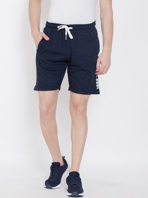 Duke Men Blue Solid Regular Fit Regular Shorts