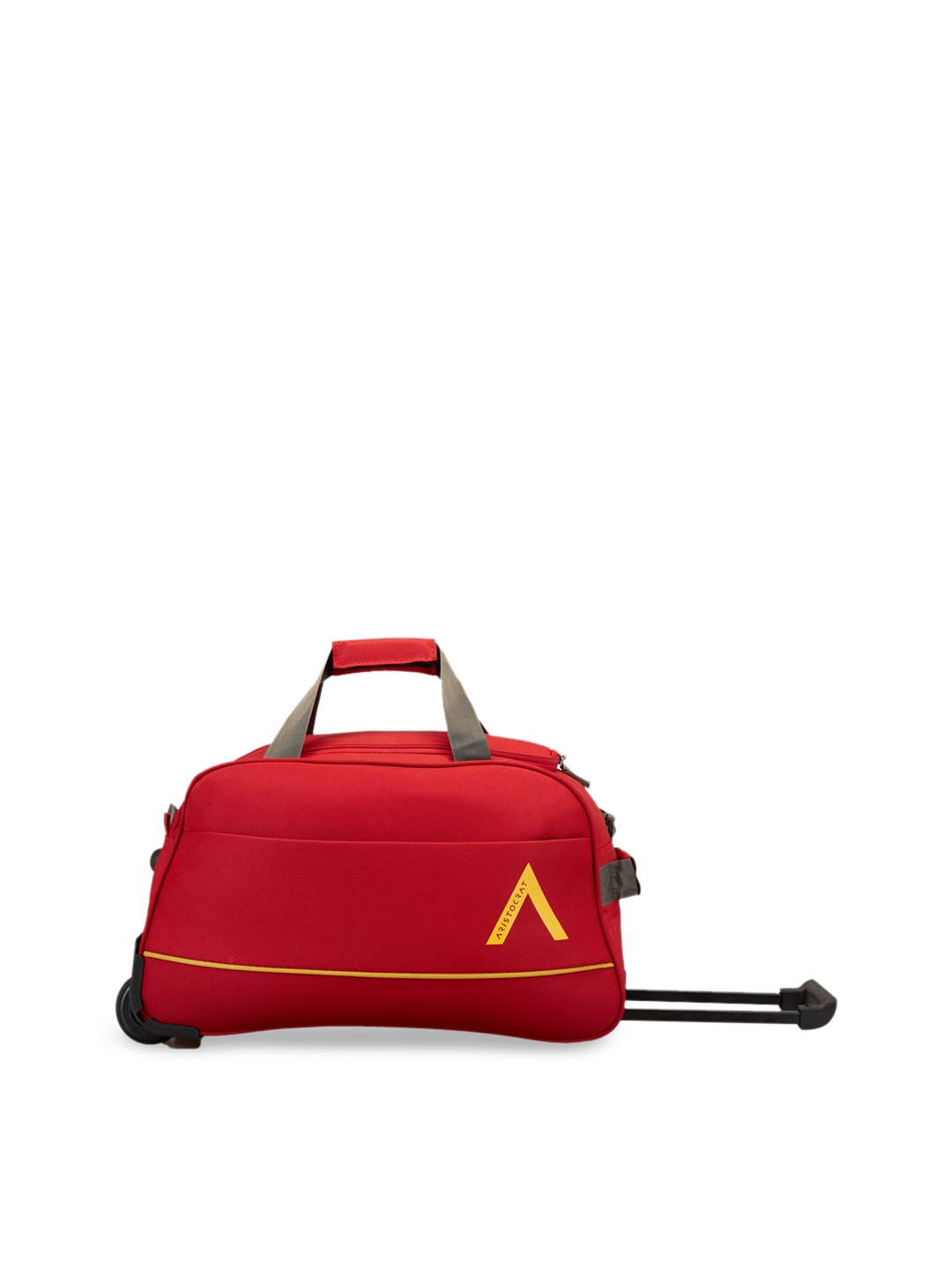 Aristocrat Red Solid Cabin Size Trolley Duffle Bag