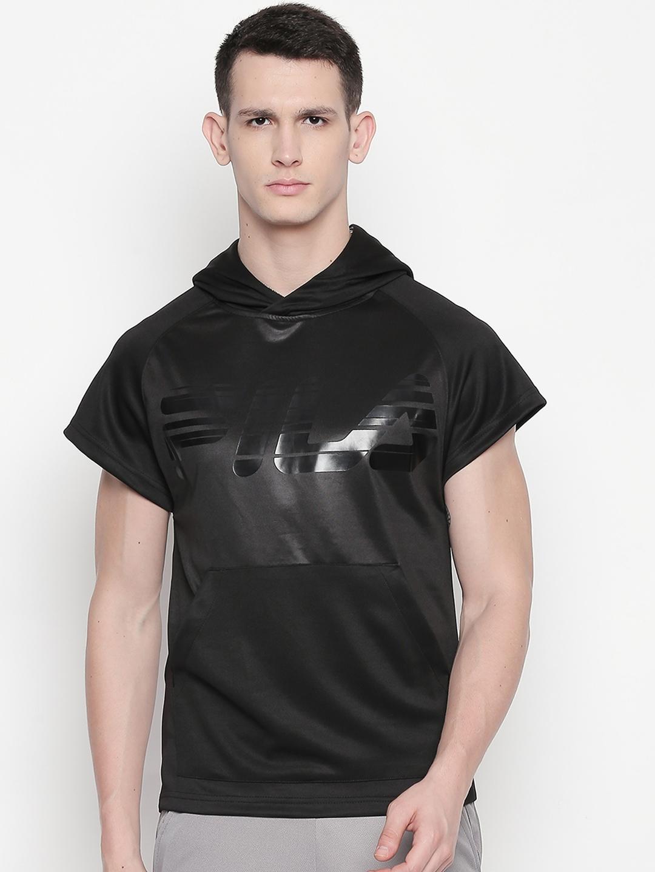 FILA Men Black Printed Jacket