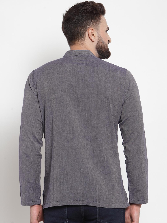 Men-039-s-Short-Kurta-Cotton-Shirt-Indian-Wear-Short-Round-Neck-Tunic-Kurta-XS-5XL thumbnail 11