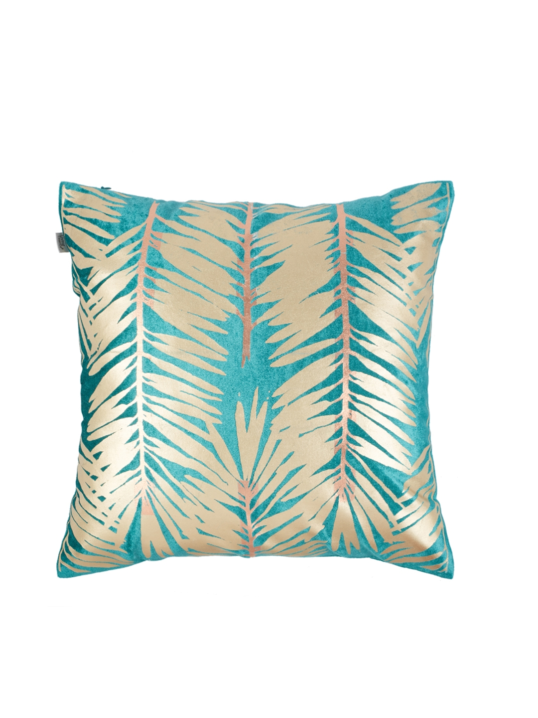 Living Essence Blue Single Abstract Square Cushion Cover