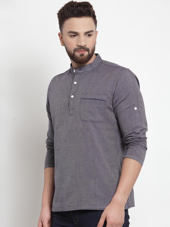 Men-039-s-Short-Kurta-Cotton-Shirt-Indian-Wear-Short-Round-Neck-Tunic-Kurta-XS-5XL thumbnail 10