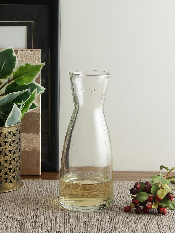Uniglass Set of 2 Transparent Glass Whiskey Decanter 500 ml each