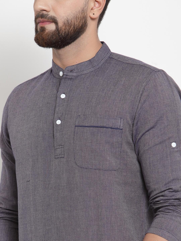 Men-039-s-Short-Kurta-Cotton-Shirt-Indian-Wear-Short-Round-Neck-Tunic-Kurta-XS-5XL thumbnail 9