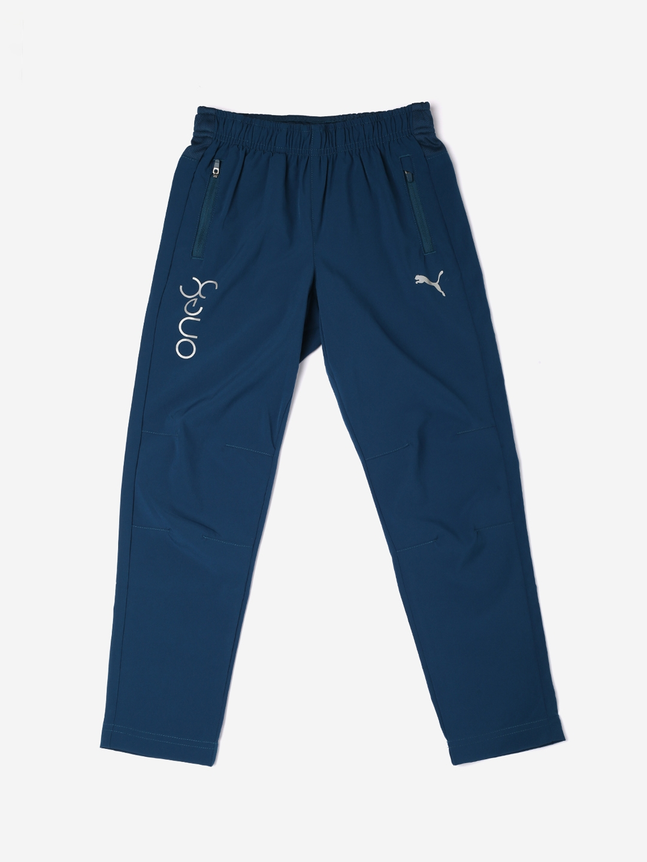 Puma Boys Blue Solid Trackpants