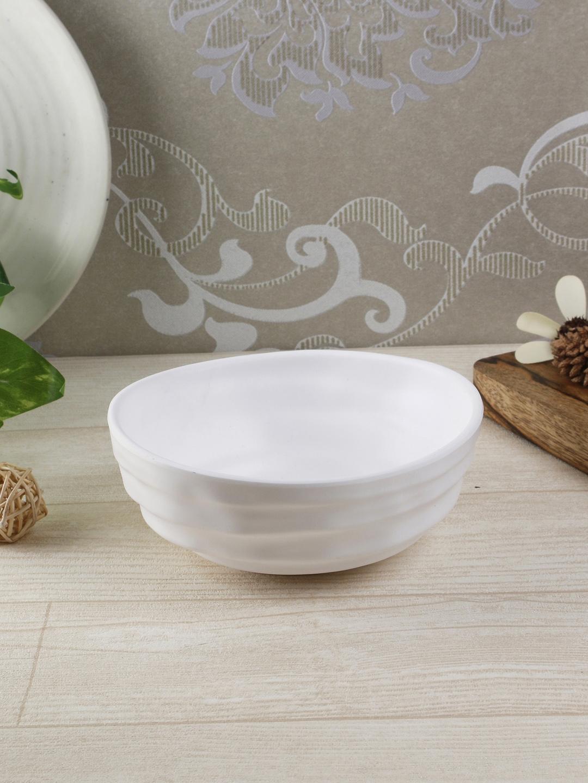 Servewell White 2 Pieces Solid Melamine Bowls Set