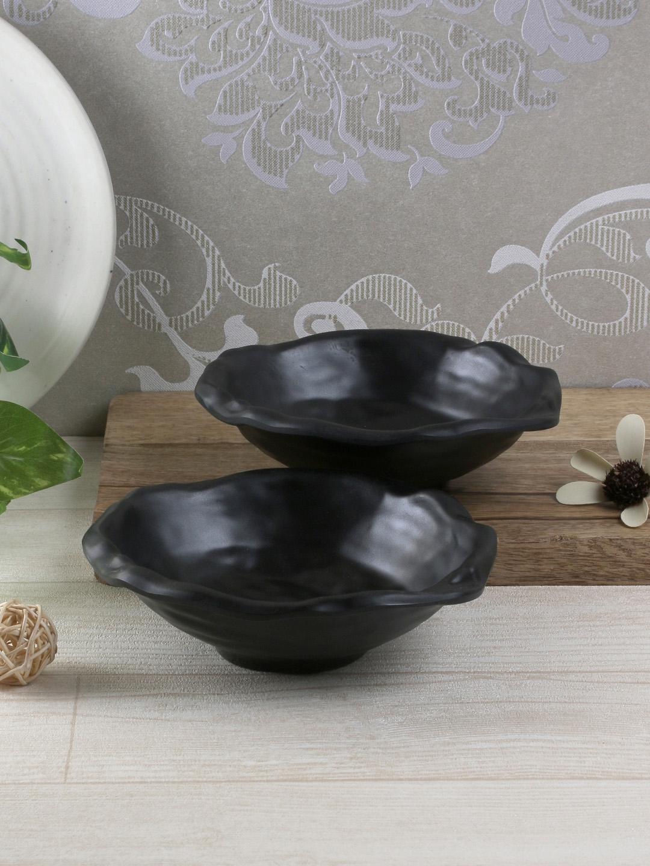 Servewell Set of 2 Black Melamine Break Resistant/ Stain Resistant Alaskan Bowls