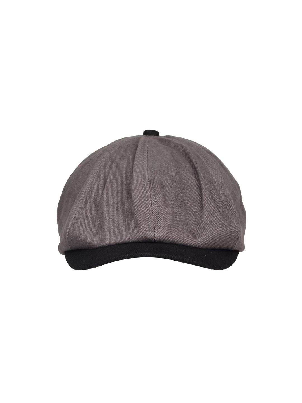 FabSeasons Unisex Grey   Black Solid Ascot Cap