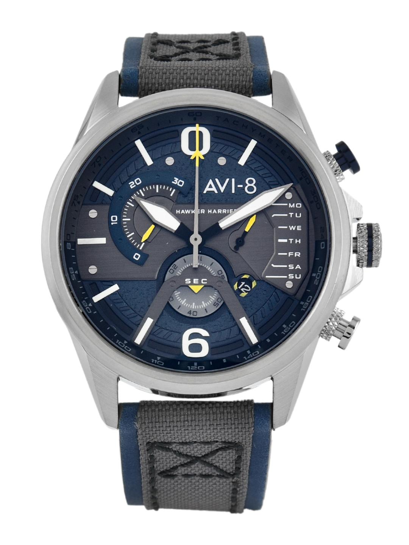 AVI 8 Men Blue   Silver Toned Analogue Watch