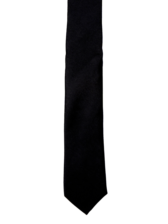 Blacksmith Black Solid Skinny Tie