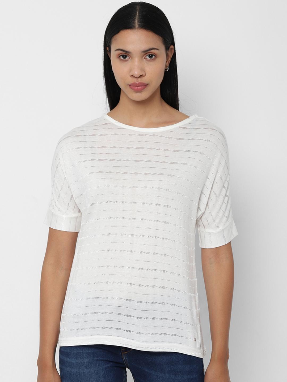 Allen Solly Woman White Self Design Top