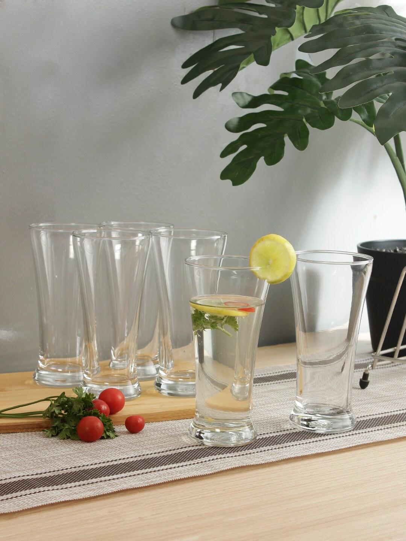 Ocean Set of 6 Transparent Solid Beer Pilsner Glasses