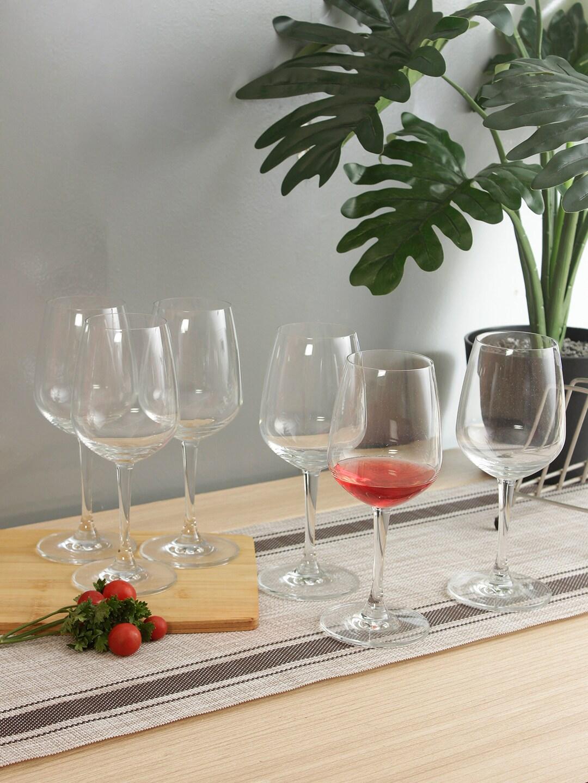 Ocean Set Of 6 Transparent Solid Lexington Red Wine Glasses