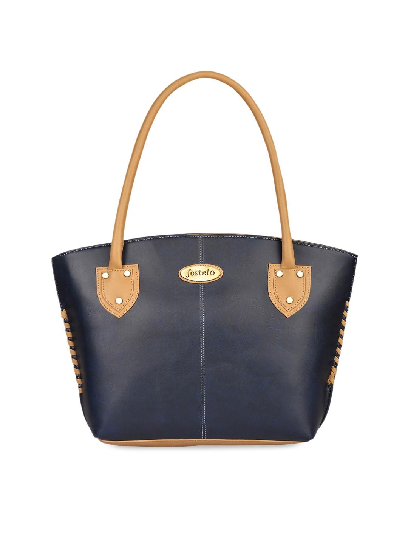 Fostelo Blue Solid Shoulder Bag