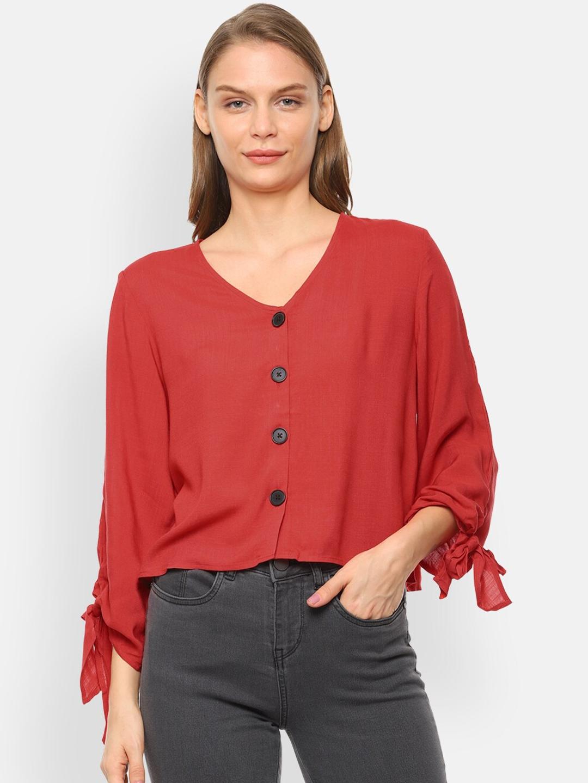 Van Heusen Woman Women Red Solid Top