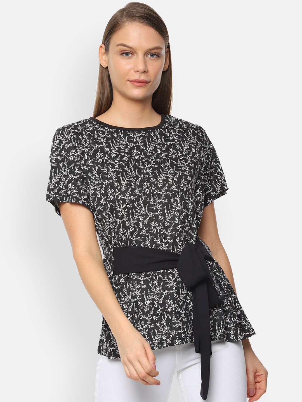 Van Heusen Woman Women Black Printed Top