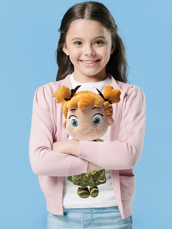 Dimpy Stuff Kids Beige   Green Cartoon Character Baby Anna Stuffed Soft Plush Toy