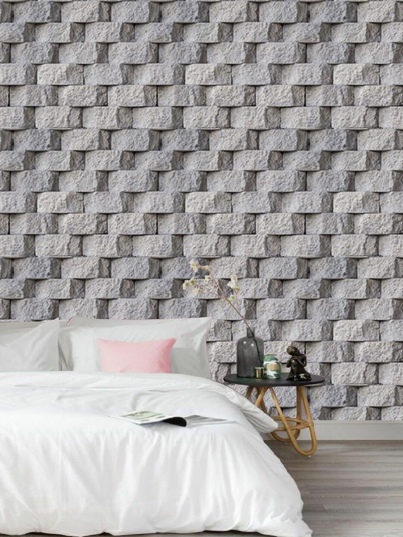Jaamso Royals Grey 3D PVC Wood Grain Wallpaper
