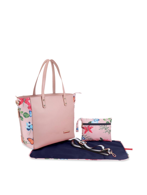 My Milestones Pink Diaper Tote Bag