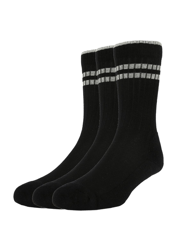 Allen Solly Men Pack Of 3 Black Solid Calf Length Socks