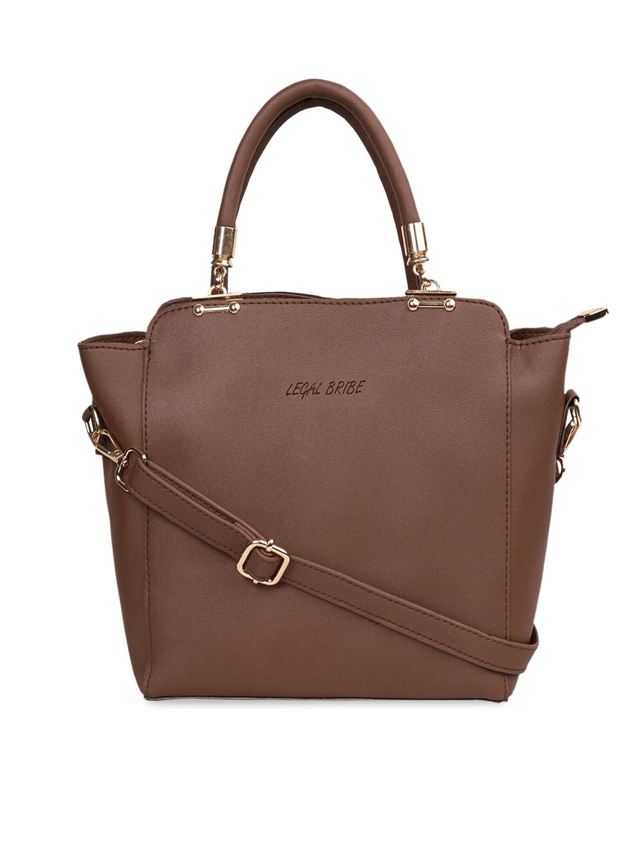 LEGAL BRIBE Brown Solid Shoulder Bag
