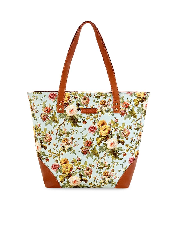 Lychee bags Sea Green   Yellow Printed Shoulder Bag