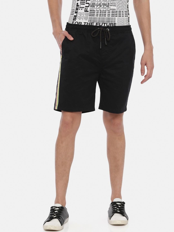 Breakbounce Men Black Solid Slim Fit Chino Shorts