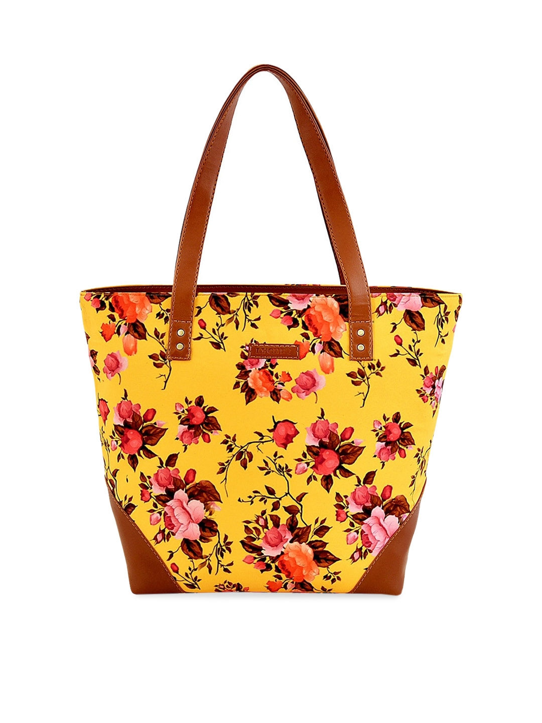 Lychee bags Yellow   Red Printed Tote Bag