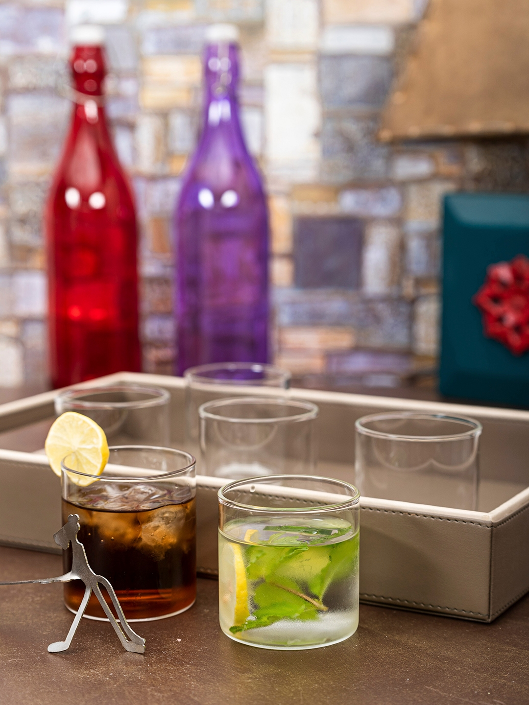 ROXX Transparent Set of 6 Glass Tumbler