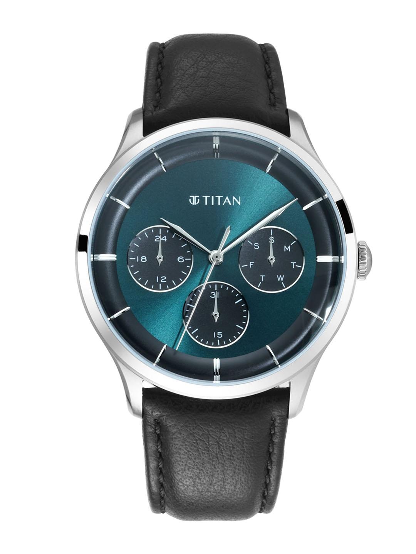 Titan Men Green Analogue Watch