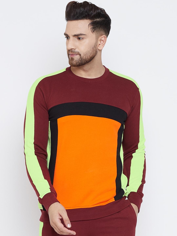 FUGAZEE Men Multicoloured Colourblocked Sweatshirt