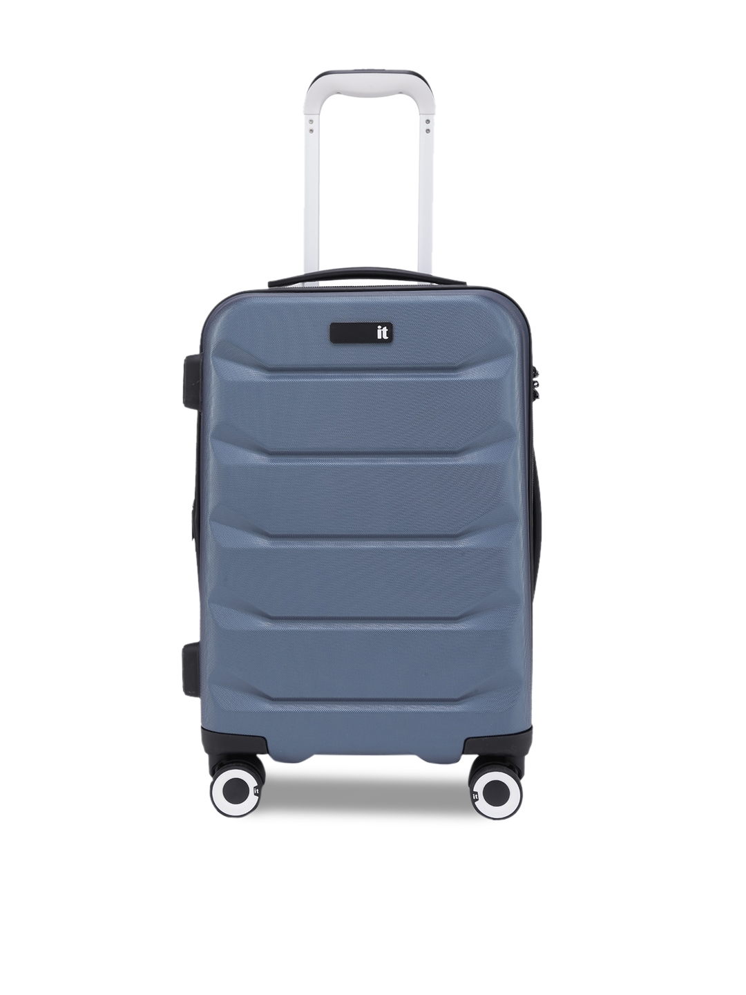 IT luggage Blue Textured Cabin Trolley Bag