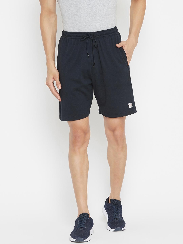 Plagg Men Navy Blue Solid Sports Shorts
