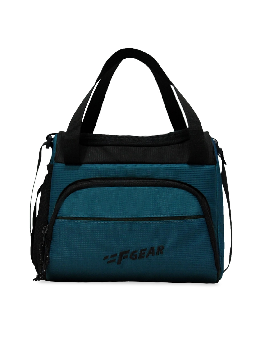F Gear Blue   Black Textured Lunch Bag