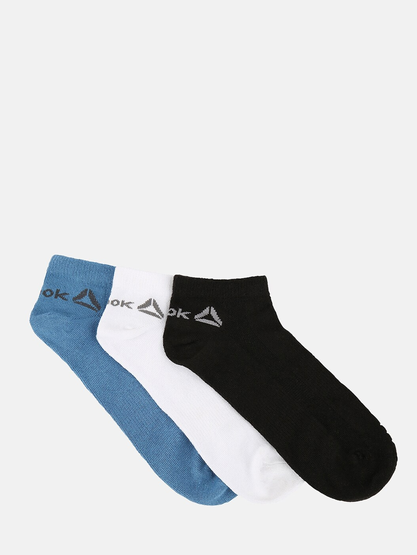 Reebok Men Pack of 3 Assorted Ankle Length Socks
