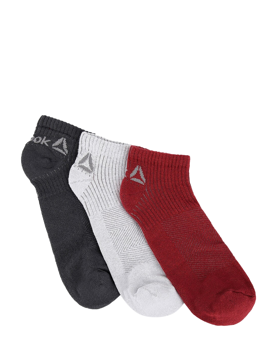 Reebok Men Pack Of 3 Assorted Ankle Length Socks