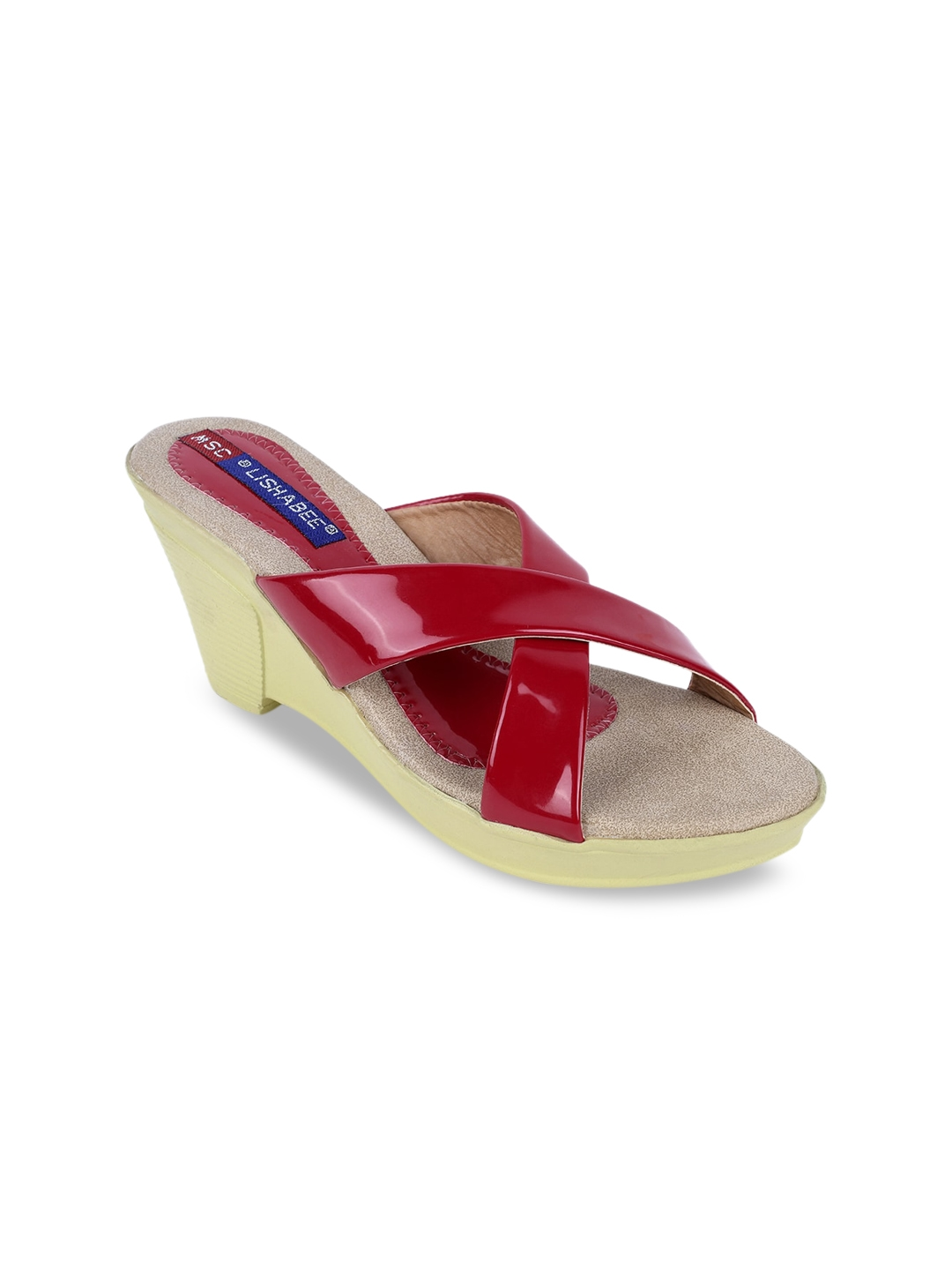 MSC Women Red Solid Wedges