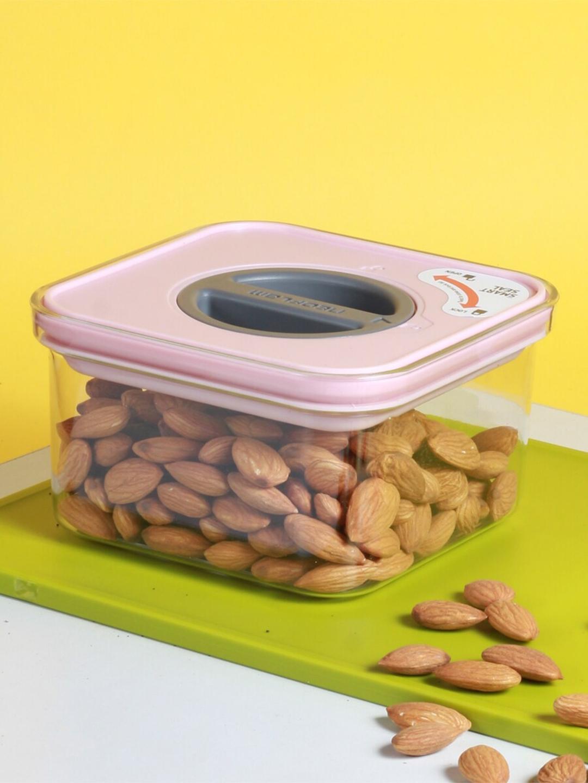 NOW   ZEN Transparent   Pink Solid Smart Seal Food Storage 500 ml