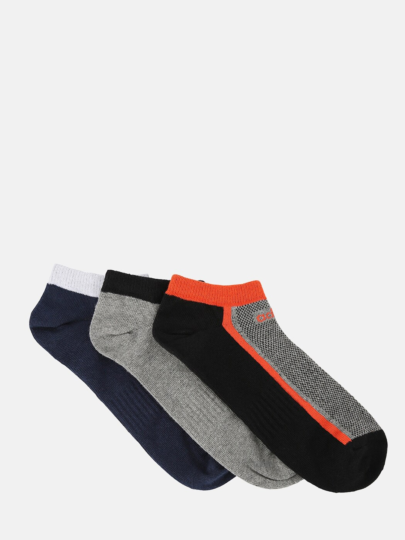 ADIDAS Men Pack Of 3 Assorted Ankle Length Socks