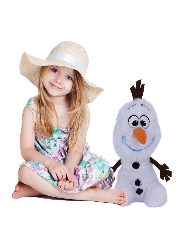 DISNEY PLUSH Unisex Kids White   Black Frozen Olaf Plush Toy
