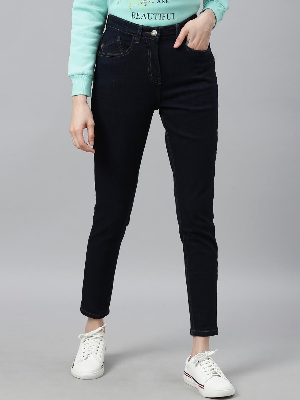 Park Avenue Woman Women Blue Skinny Fit Jeans