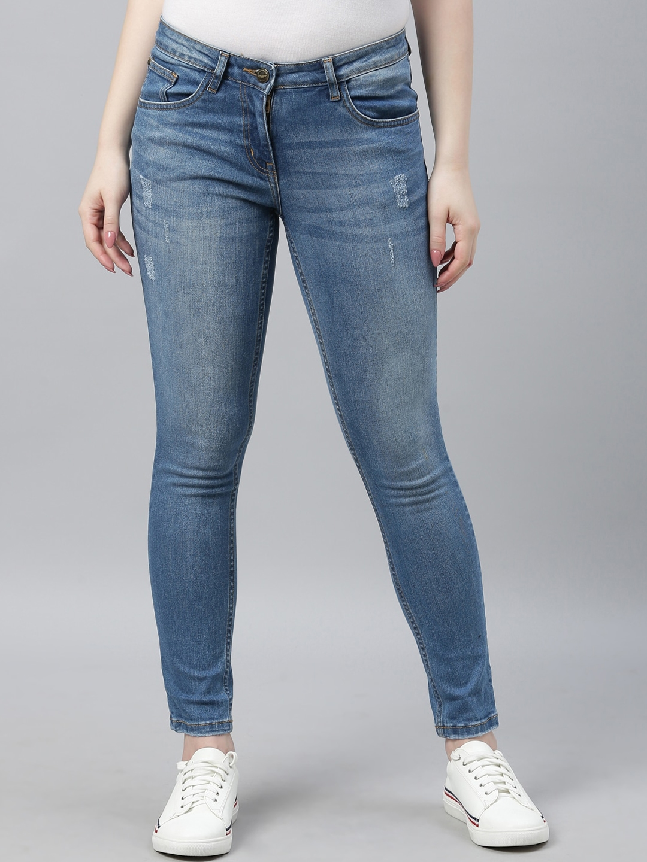Park Avenue Woman Women Blue Regular Fit Jeans
