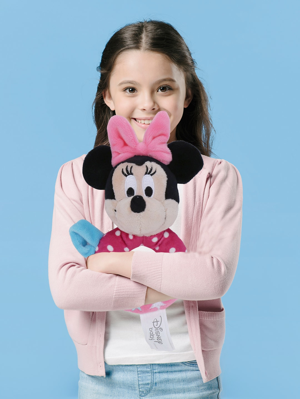 DISNEY PLUSH Kids Pink   Black Disney Plush Minnie Ring Rattle Soft Stuffed Toy