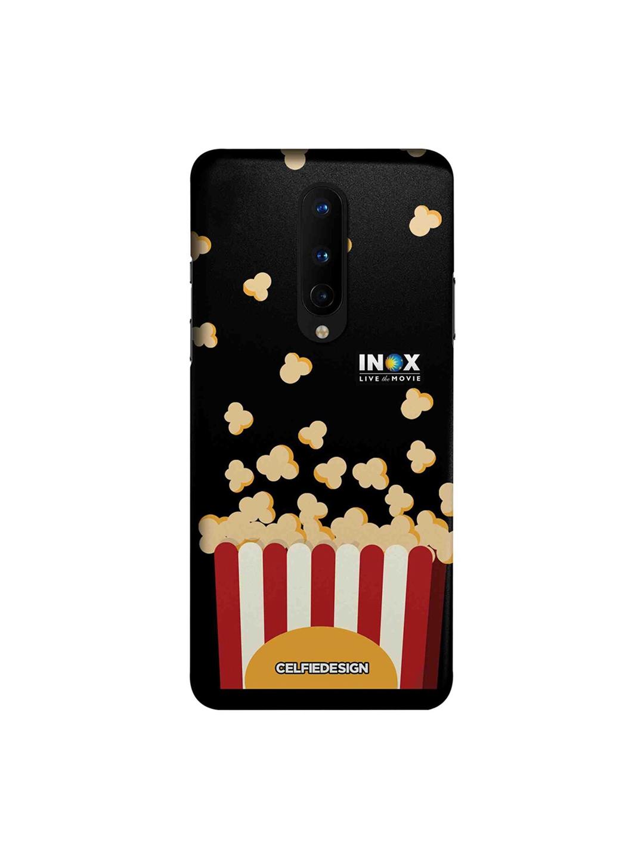 CelfieDesign Unisex Black INOX Popcorn OnePlus 8 Back Cover