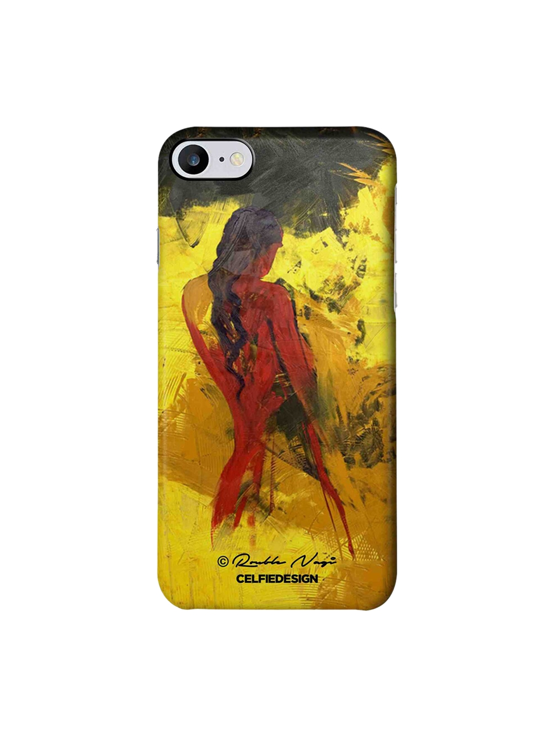 CelfieDesign Yellow   Red Lady in Red Rouble Nagi Apple iPhone 7 Back Cover