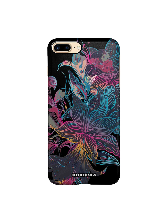 CelfieDesign Multicoloured Neon Flowers Apple iPhone 8 Plus Back Cover